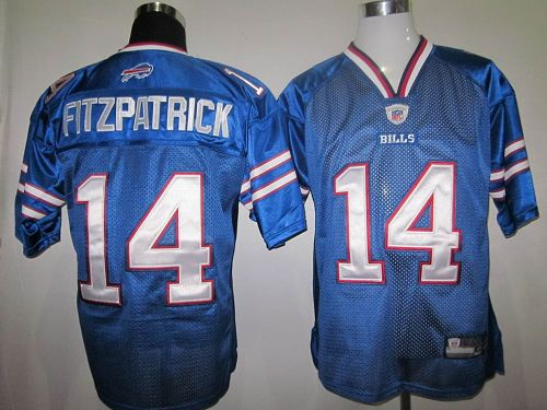 Bills #14 Ryan Fitzpatrick Baby Blue 2011 New Style Stitched NFL Jersey