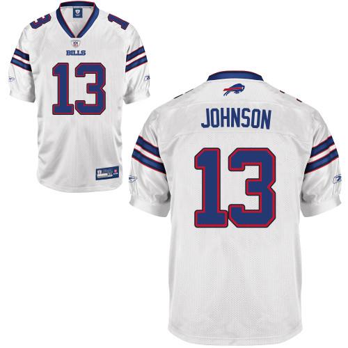 Bills #13 Steve Johnson White 2011 New Style Stitched NFL Jersey