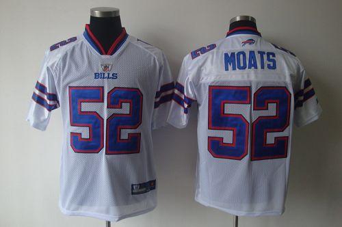 Bills #52 Arthur Moats White 2011 New Style Stitched NFL Jersey