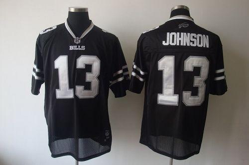 Bills #13 Steve Johnson Black Shadow Stitched NFL Jersey