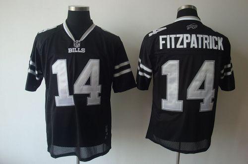 Bills #14 Ryan Fitzpatrick Black Shadow Stitched NFL Jersey