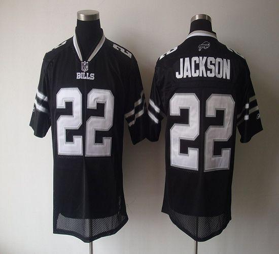 Bills #22 Fred Jackson Black Shadow Stitched NFL Jersey