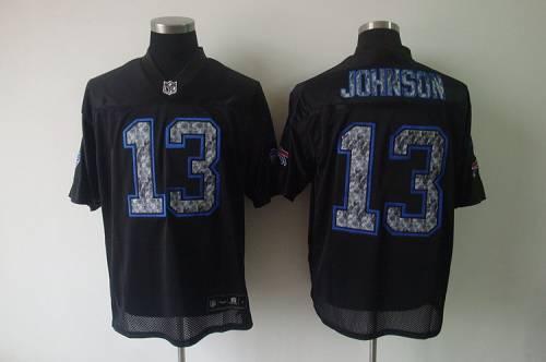 Sideline Black United Bills #13 Steve Johnson Black Stitched NFL Jersey
