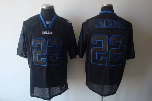 Bills #22 Fred Jackson Lights Out Black Stitched NFL Jersey