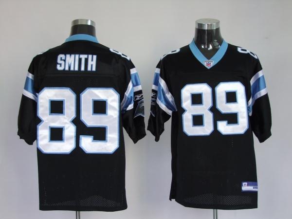 Panthers #89 Steve Smith Black Stitched NFL Jersey