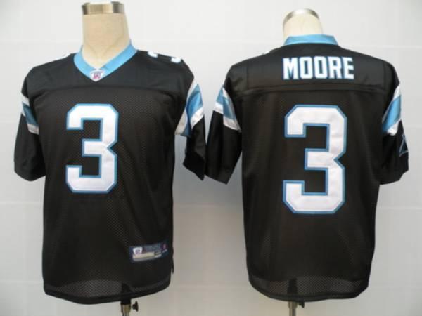Panthers #3 Matt Moore Black Stitched NFL Jersey