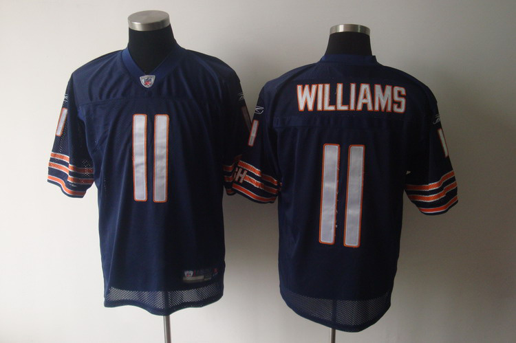 Bears #11 Roy Williams Blue Stitched NFL Jersey