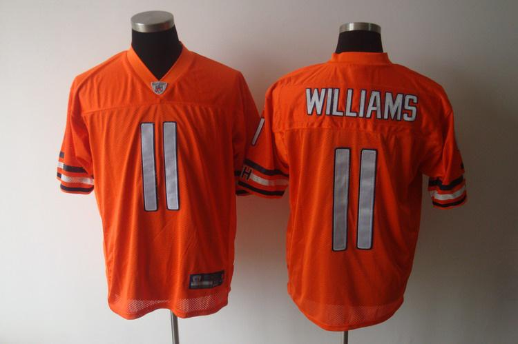 Bears #11 Roy Williams Orange Stitched NFL Jersey