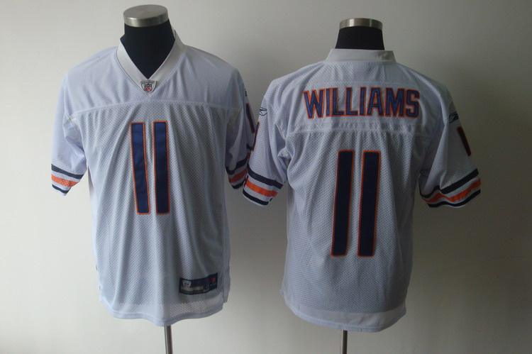 Bears #11 Roy Williams White Stitched NFL Jersey