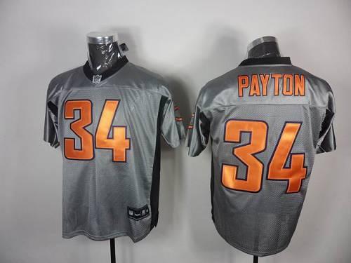 Bears #34 Walter Payton Grey Shadow Stitched NFL Jersey