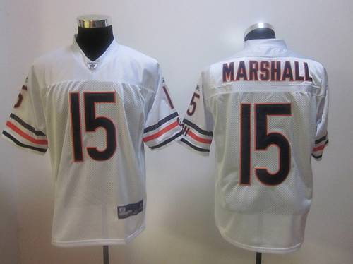 Bears #15 Brandon Marshall White Stitched NFL Jersey