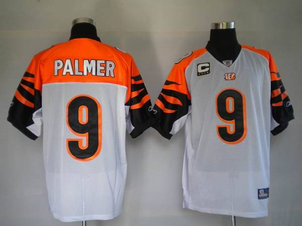 Bengals #9 Carson Palmer White Stitched NFL Jersey