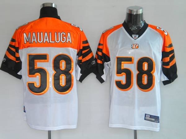 Bengals #58 Rey Maualuga White Stitched NFL Jersey