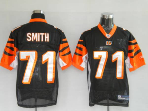 Bengals #71 Andre Smith Black Stitched NFL Jersey