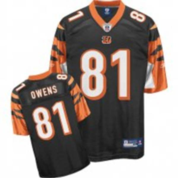 Bengals #81 Terrell Owens Black Stitched NFL Jersey