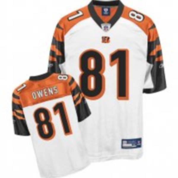 Bengals #81 Terrell Owens White Stitched NFL Jersey
