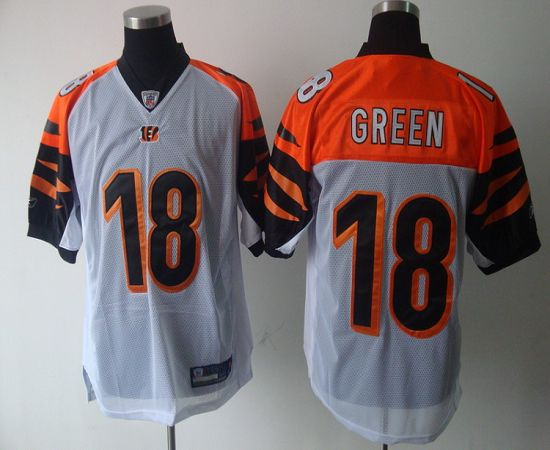 Bengals #18 A.J. Green White Stitched NFL Jersey