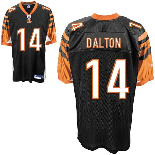 Bengals #14 Andy Dalton Black Stitched NFL Jersey