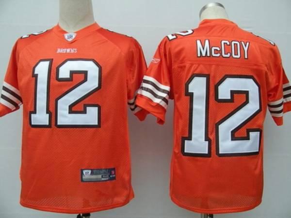 Browns #12 Colt McCoy Orange Stitched NFL Jersey