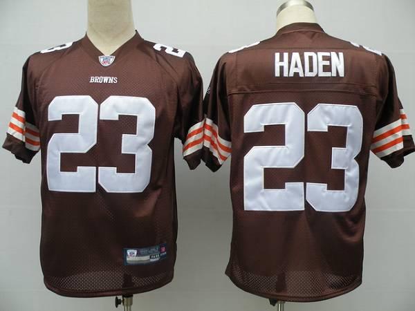 Browns #23 Joe Haden Brown Stitched NFL Jersey