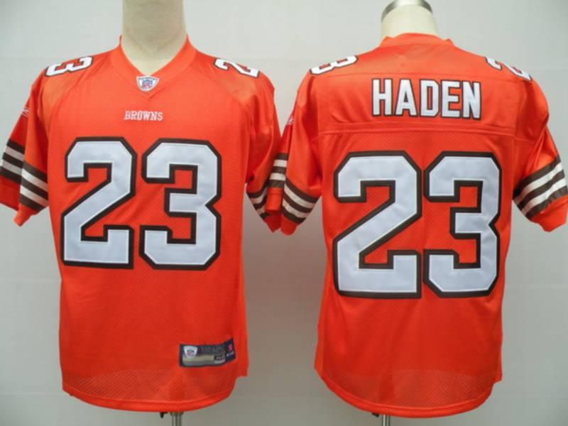 Browns #23 Joe Haden Orange Stitched NFL Jersey