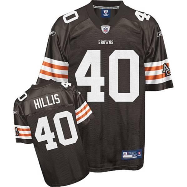 Browns #40 Peyton Hillis Brown Stitched NFL Jersey