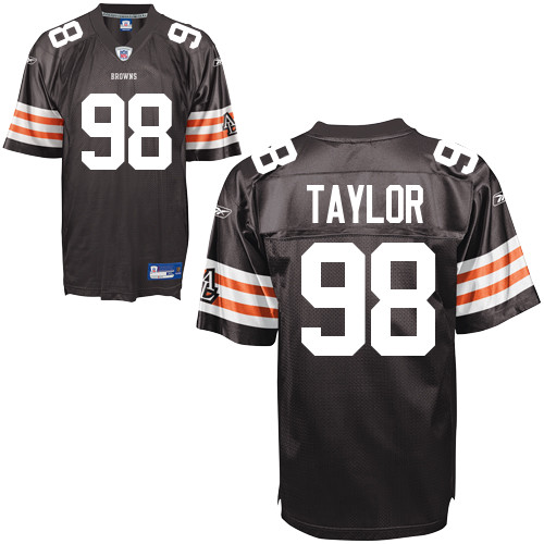 Browns #98 Phil Taylor Brown Stitched NFL Jersey