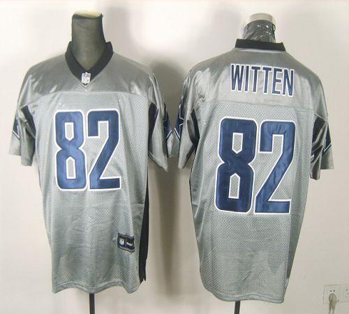 Cowboys #82 Jason Witten Grey Shadow Stitched NFL Jersey