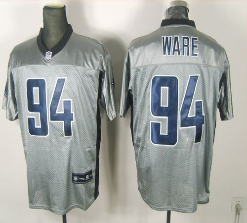 Cowboys #94 DeMarcus Ware Grey Shadow Stitched NFL Jersey