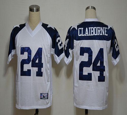 Cowboys #24 Morris Claiborne White Thanksgiving Stitched NFL Jersey