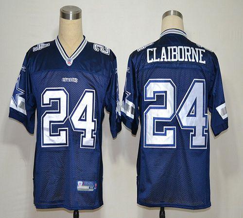 Cowboys #24 Morris Claiborne Blue Stitched NFL Jersey