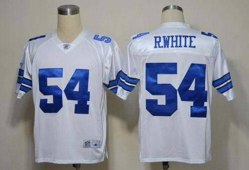 Cowboys #54 R.White White Legend Throwback Stitched NFL Jersey