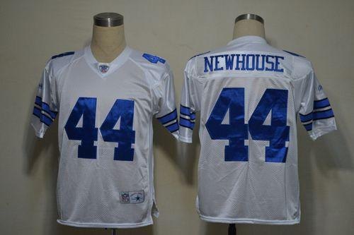 Cowboys #44 Robert Newhouse White Legend Throwback Stitched NFL Jersey