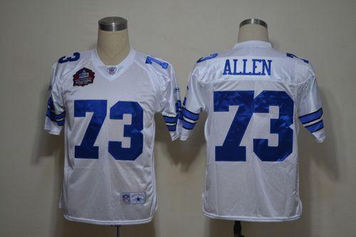 Cowboys #73 Larry Allen White Legend Throwback Stitched NFL Jersey