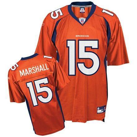 Broncos #15 Brandon Marshall Orange Stitched NFL Jersey