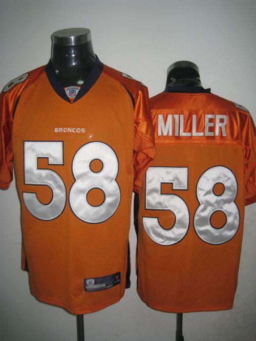 Broncos #58 Von Miller Orange Stitched NFL Jersey