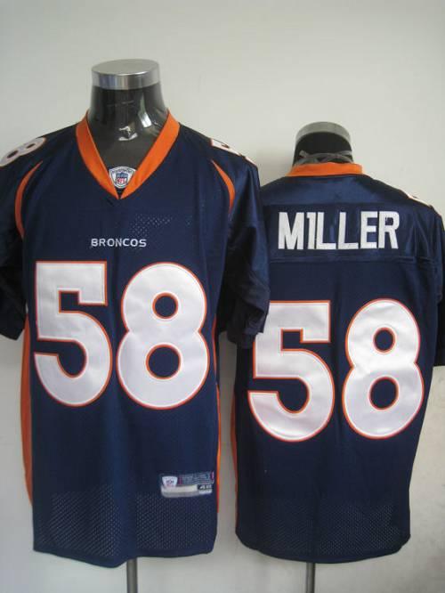 Broncos #58 Von Miller Blue Stitched NFL Jersey