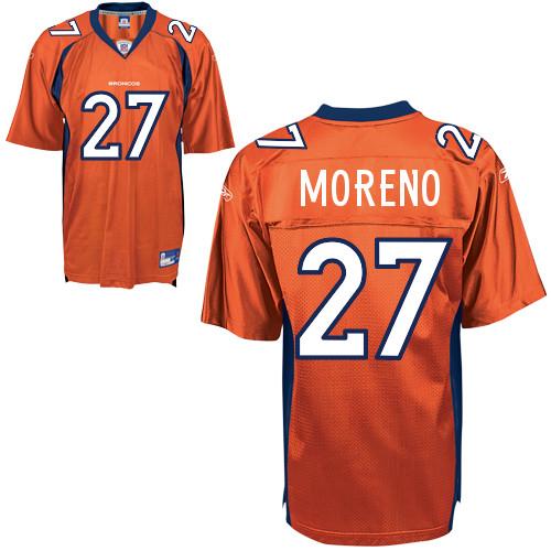 Broncos #27 Knowshon Moreno Orange Stitched NFL Jersey