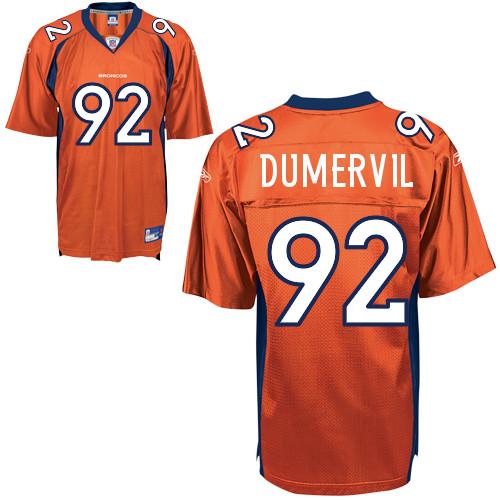 Broncos #92 Elvis Dumervil Orange Stitched NFL Jersey