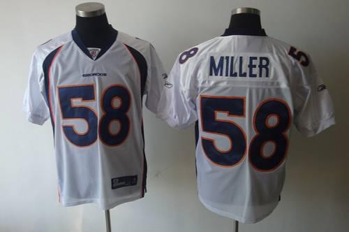 Broncos #58 Von Miller White Stitched NFL Jersey