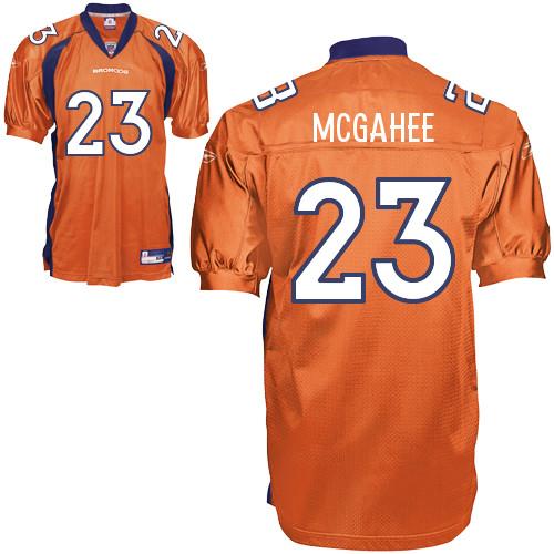 Broncos #23 Willis McGahee Orange Stitched NFL Jersey