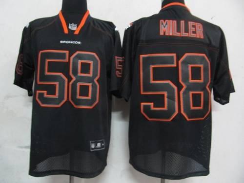 Broncos #58 Von Miller Lights Out Black Stitched NFL Jersey