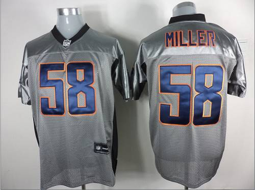 Broncos #58 Von Miller Grey Shadow Stitched NFL Jersey