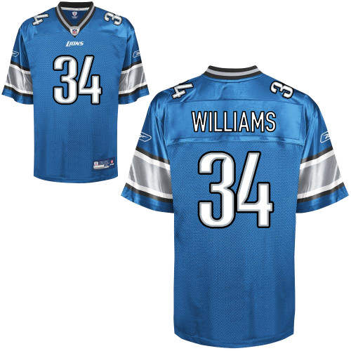 Lions #34 Keiland Williams Blue Stitched NFL Jersey