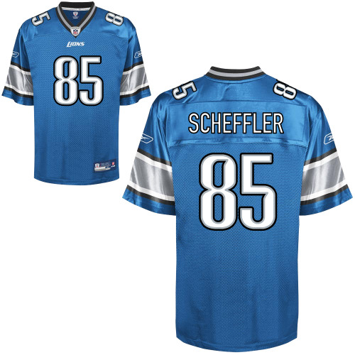Lions #85 Tony Scheffler Blue Stitched NFL Jersey