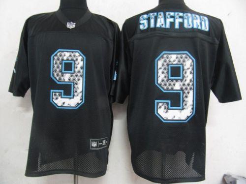 Sideline Black United Lions #9 Matthew Stafford Black Stitched NFL Jersey