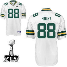 Packers #88 Jermichael Finley White Super Bowl XLV Embroidered NFL Jersey