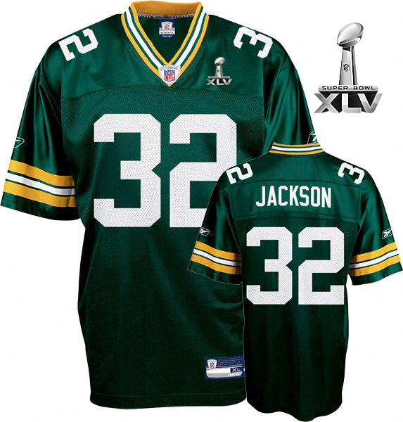Packers #32 Brandon Jackson Green Super Bowl XLV Embroidered NFL Jersey