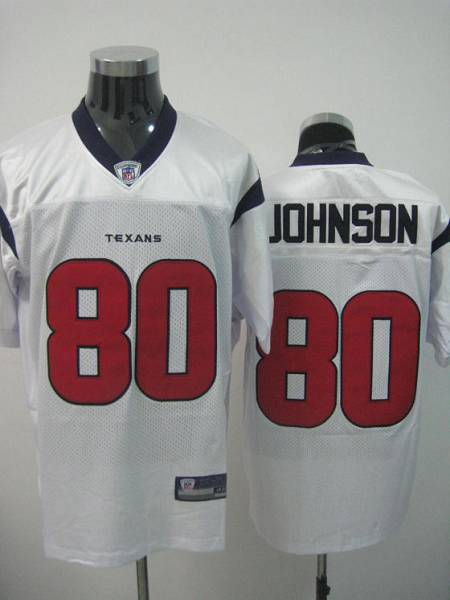Texans A.Johnson #80 White Stitched NFL Jersey