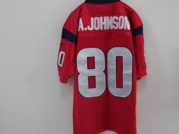 Texans A.Johnson #80 Red Stitched NFL Jersey